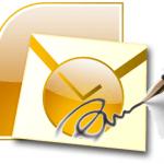 Настройка подписи в MS Outlook 2007 (картинка в подписи)