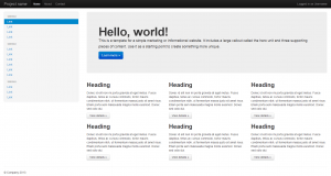 Пример дизайна Twitter Bootstrap