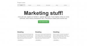 Пример темы Bootstrap