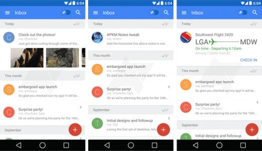 Inbox от Google - новое слово в почтовых клиентах