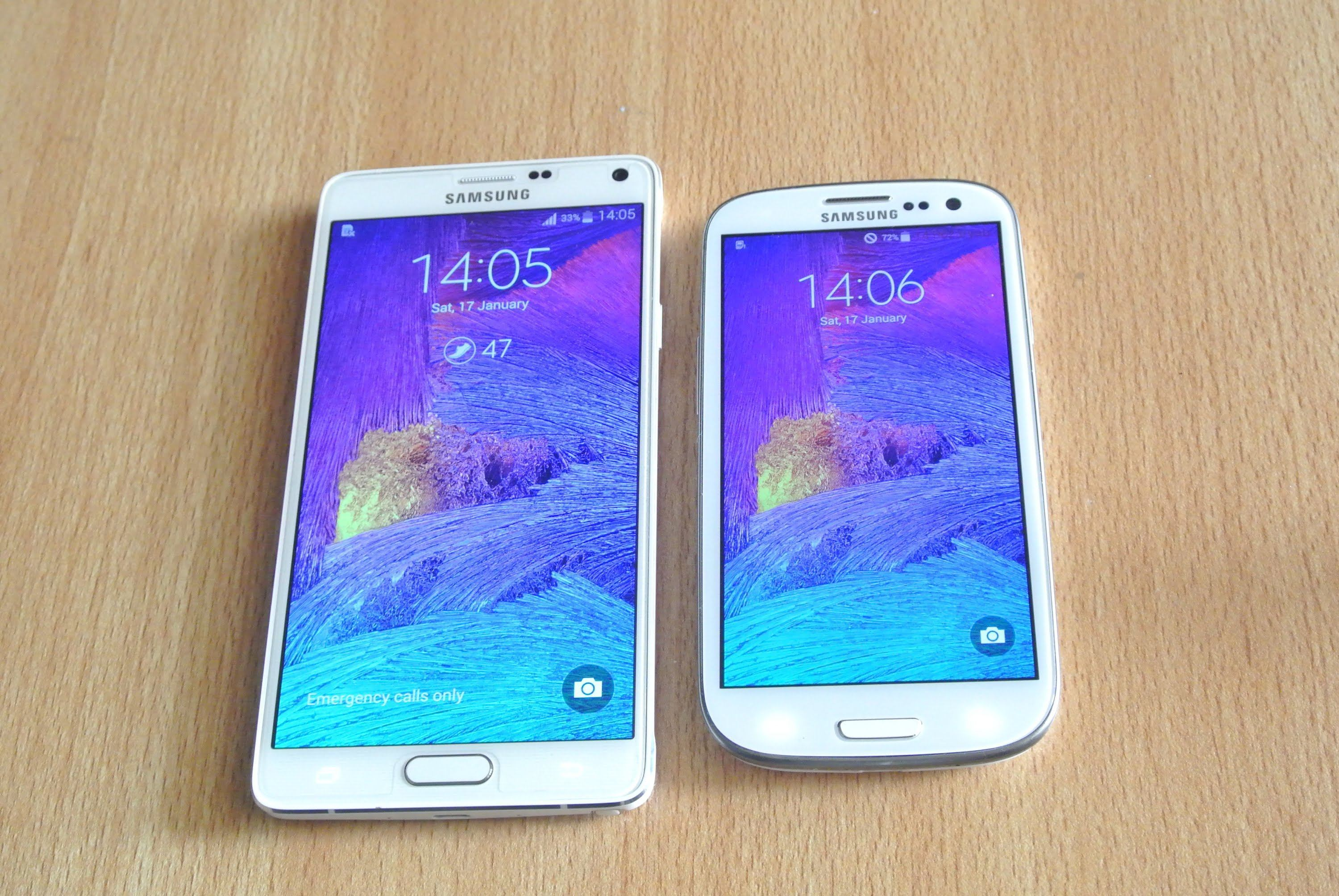 Samsung Galaxy Note 4 VS Galaxy S3